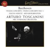 Beethoven: Violin Concerto in D Major, Op. 61 & Piano Concerto No. 3 in C Minor, Op. 37 de Arturo Toscanini