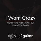I Want Crazy (Originally Performed By Hunter Hayes) [Acoustic Karaoke Version] de Sing2Guitar