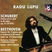 Schubert: Sonata pentru pian No. 17, Op. 53 & Beethoven: Concert No. 5 pentru pian și orchestră, Op. 73 de Various Artists