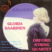 Brahms: Quintet in F Minor - Handel: Variations and Fugue on a Theme by Gloria Saarinen