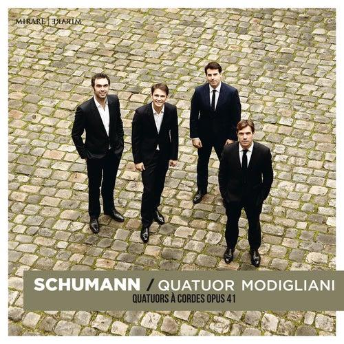 Schumann: String Quartets Op. 41 de Quatuor Modigliani