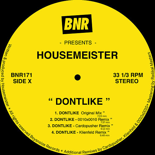 Dontlike by Housemeister
