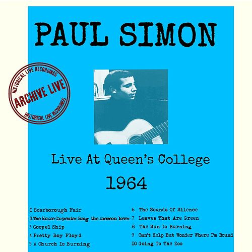 Live at Queens College 1964 de Paul Simon