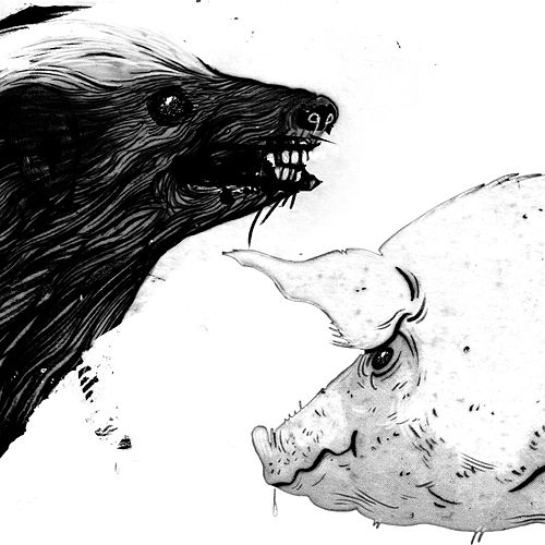 Honey Badger / Pig by Clark
