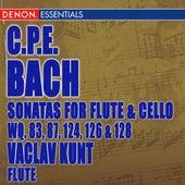 Carl Philip Bach: Sonatas for Flute Violoncello Wq. 83, 87, 124, 126 & 128 von Vaclav Kunt