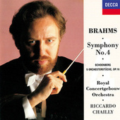 Brahms: Symphony No.4 / Schoenberg: 5 Orchestral Pieces di Riccardo Chailly