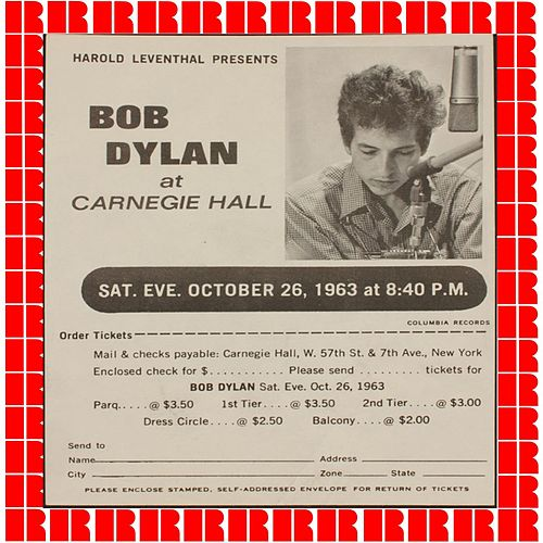 Live At Carnegie Hall 1963 (Hd Remastered Edition) di Bob Dylan