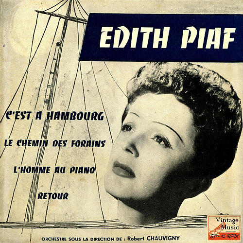 Vintage French Song Nº 35 - EPs Collectors 'C'Est A Hambourg' by Edith Piaf