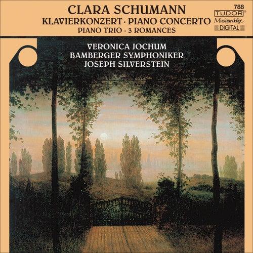 SCHUMANN, C.: Piano Concerto, Op. 7 / Piano Trio, Op. 17 / 3 Romanzen (Jochum, Silverstein, Carr, Bamberg Symphony) by Joseph Silverstein