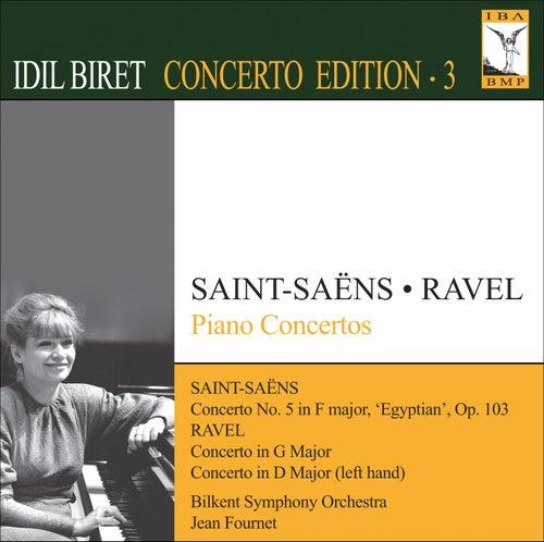 SAINT-SAENS, C.: Piano Concerto No. 5 / RAVEL, M.: Piano Concerto in G major / Piano Concerto for the Left Hand (Biret Concerto Edition, Vol. 3) by Idil Biret