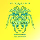 Never Stop (S.P.Y Remix) / Hustle (Synergy Remix) by DC Breaks
