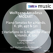 Mozart: Sonatas for Piano 4 Hands, K. 381, 497 & 521 and 5 Variations in G Major for Piano 4 Hands, K. 501 von Ingrid Haebler