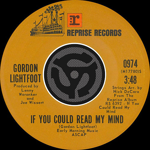 If You Could Read My Mind / Poor Little Allison [Digital 45] by Gordon Lightfoot