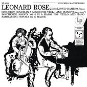Schubert: Arpeggione Sonata & Boccherini: Cello Sonata in A Major & Sammartini: Cello Sonata in G Major de Leonard Rose