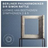 Ludwig van Beethoven: Symphonies Nos. 2 & 5 by Berliner Philharmoniker