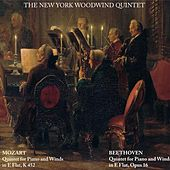 Mozart: Quintet for Piano and Winds in E Flat, K452 - Beethoven: Quintet for Piano and Winds in E Flat, Op. 16 von New York Woodwind Quintet
