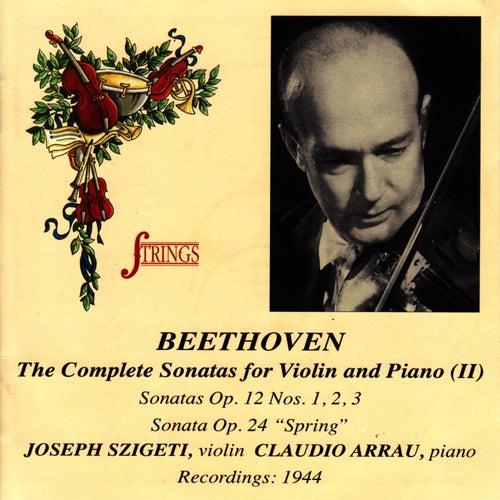 Beethoven: Violin Sonatas Op. 12, 24 by Joseph Szigeti