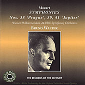 Mozart: Bruno Walter Conducts Symphonies No. 38, 39 & 41 by Various Artists