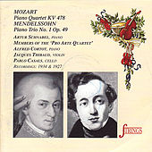 Mozart: Piano Quartet - Mendelssohn: Piano Trio by Various Artists