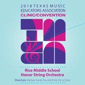 2018 Texas Music Educators Association (TMEA): Rice Middle School Honor String Orchestra [Live] de Various Artists