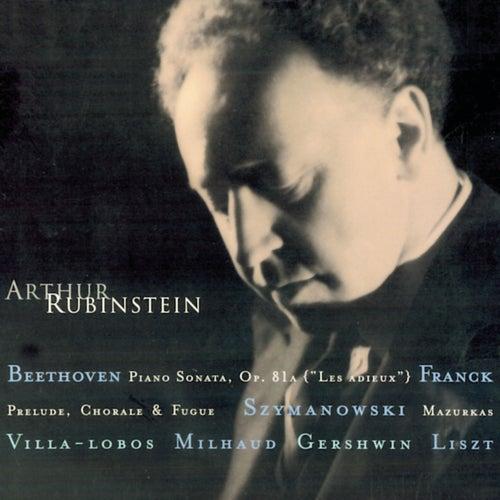 Rubinstein Collection, Vol. 11: Beethoven: Sonata Op. 81a (Les Adieux); Franck, Villa-Lobos, Szymanowski, Milhaud, Gershwin, Liszt, Schubert by Arthur Rubinstein