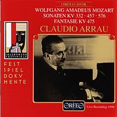Mozart: Piano Sonatas Nos. 12, 14 & 18 and Fantasia in C Minor (Live) by Claudio Arrau