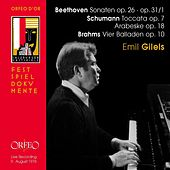 Beethoven, Schumann & Brahms: Piano Works (Live) by Emil Gilels