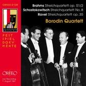 Brahms, Shostakovich & Ravel: String Quartets (Live) de Borodin Quartet