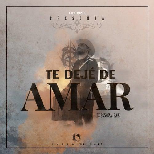 Te Dejé De Amar de Espinoza Paz