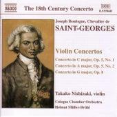 SAINT-GEORGES: Violin Concertos Op. 5,  Nos. 1-2 and Op. 8 de Joseph Boulogne, Chevalier de Saint-Georges