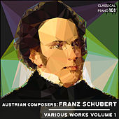 Austrian Composers: Franz Schubert Various Works Volume 1 by Classical Piano 101