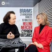 Brahms: 21 Hungarian Dances & 16 Waltzes for Piano Four Hands von Cyprien Katsaris