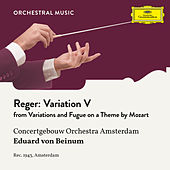 Reger: Variations and Fugue on a Theme by Mozart, Op. 132: Variation V by Royal Concertgebouw Orchestra