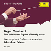 Reger: Variations and Fugue on a Theme by Mozart, Op. 132: Variation I by Royal Concertgebouw Orchestra