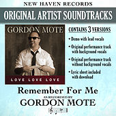 Remember for Me (Performance Tracks) - EP by Gordon Mote