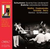Schumann: Spanisches Liederspiel, Op. 74 - Brahms: 18 Liebeslieder Waltzes, Op. 52 (Live) von Various Artists