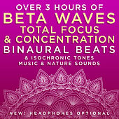 Over 3 Hours of Beta Waves Total Focus & Concentration Binaural Beats & Isochronic Tones Music & Nature Sounds de Binaural Beats Research