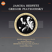 Brahms: String Quintet No. 2 in G Major, Op. 111 & Beethoven: Piano Trio No. 2 in E-Flat Major, Op. 70 (Remastered) de Gregor Piatigorsky