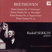 Beethoven: Piano Sonatas Nos. 8, 14, 23 & 30 von Rudolf Serkin