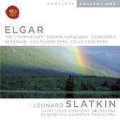 Elgar: Symphonies; Enigma Variations; Overtures; Serenade; Violin Concerto; Cello Concerto von Leonard Slatkin