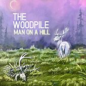 Man on a Hill by Woodpile