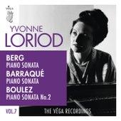 Berg, Barraqué, Boulez: Piano sonatas de Yvonne Loriod