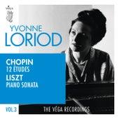 Chopin: 12 études, Op.25 | Liszt: Piano sonata in B minor, S.178 by Yvonne Loriod