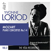Mozart: Piano concertos No. 1-4 by Yvonne Loriod