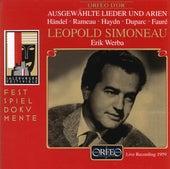 Ausgewählte Lieder und Arien (Live) von Léopold Simoneau