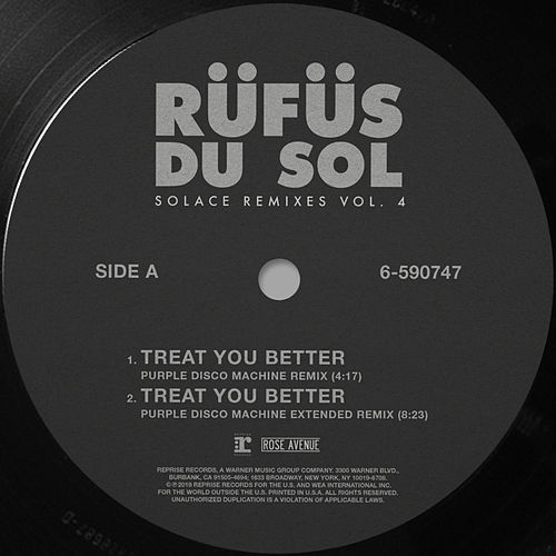 Solace Remixes Vol. 4 von RÜFÜS DU SOL