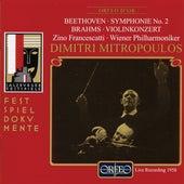 Beethoven: Symphony No. 2 in D Major, Op. 36 - Brahms: Violin Concerto in D Major, Op. 77 (Live) de Various Artists