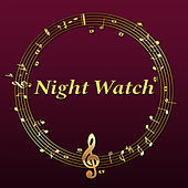 Night Watch – Navy Blue, Moonlight, Moon, Stars, Starry Sky, Dark Blue, Indygo, Date, Pillow, Blanket by Piano Jazz Background Music Masters
