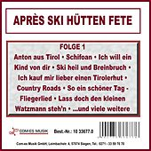 Après Ski Hütten Fete, Folge 1 von Various Artists