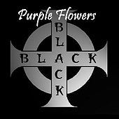 Purple Flowers de Black